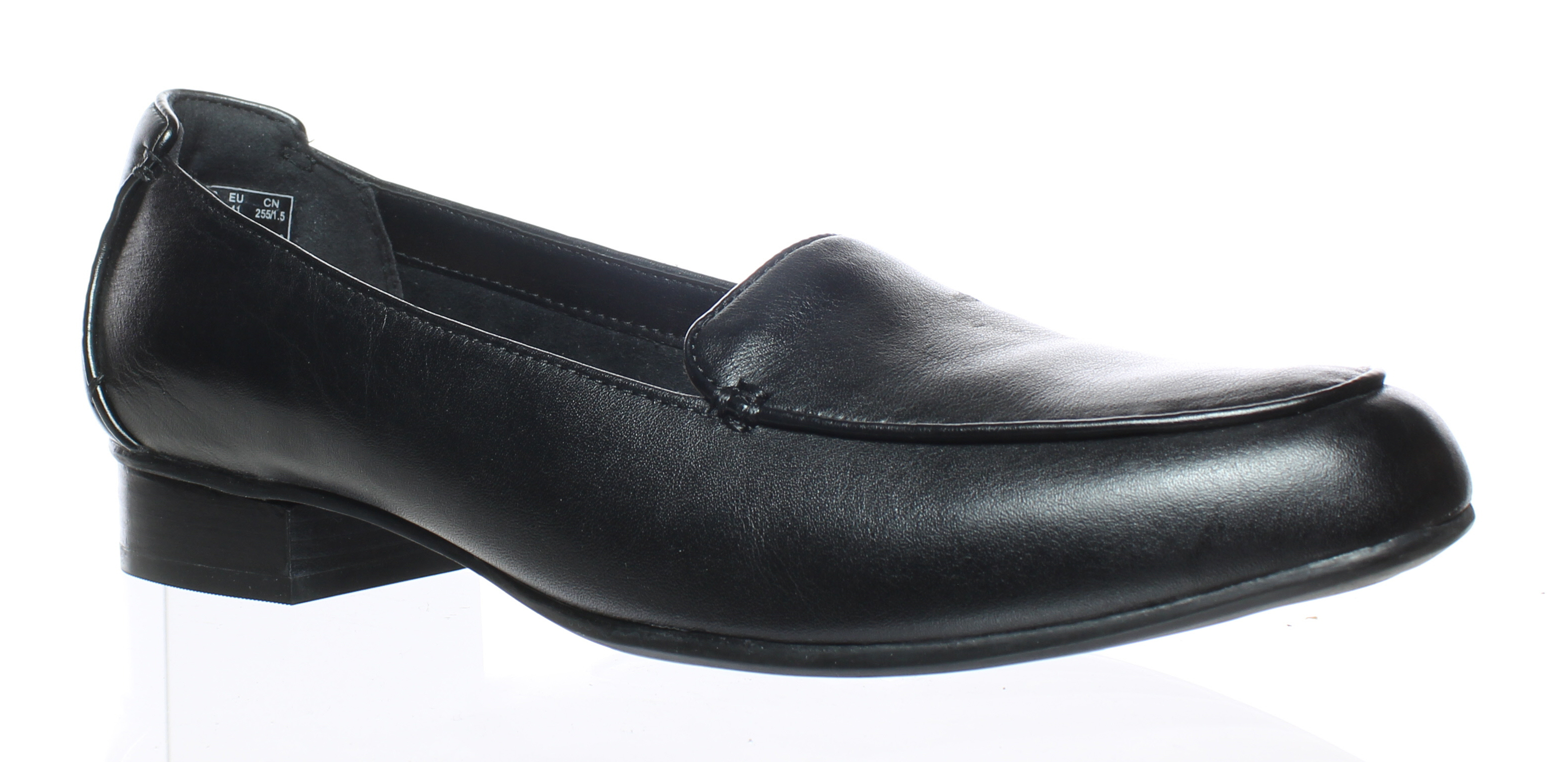 3b4ed8edecc Clarks Womens Keesha Luca Black Leather Loafers Size 9.5 (42774)