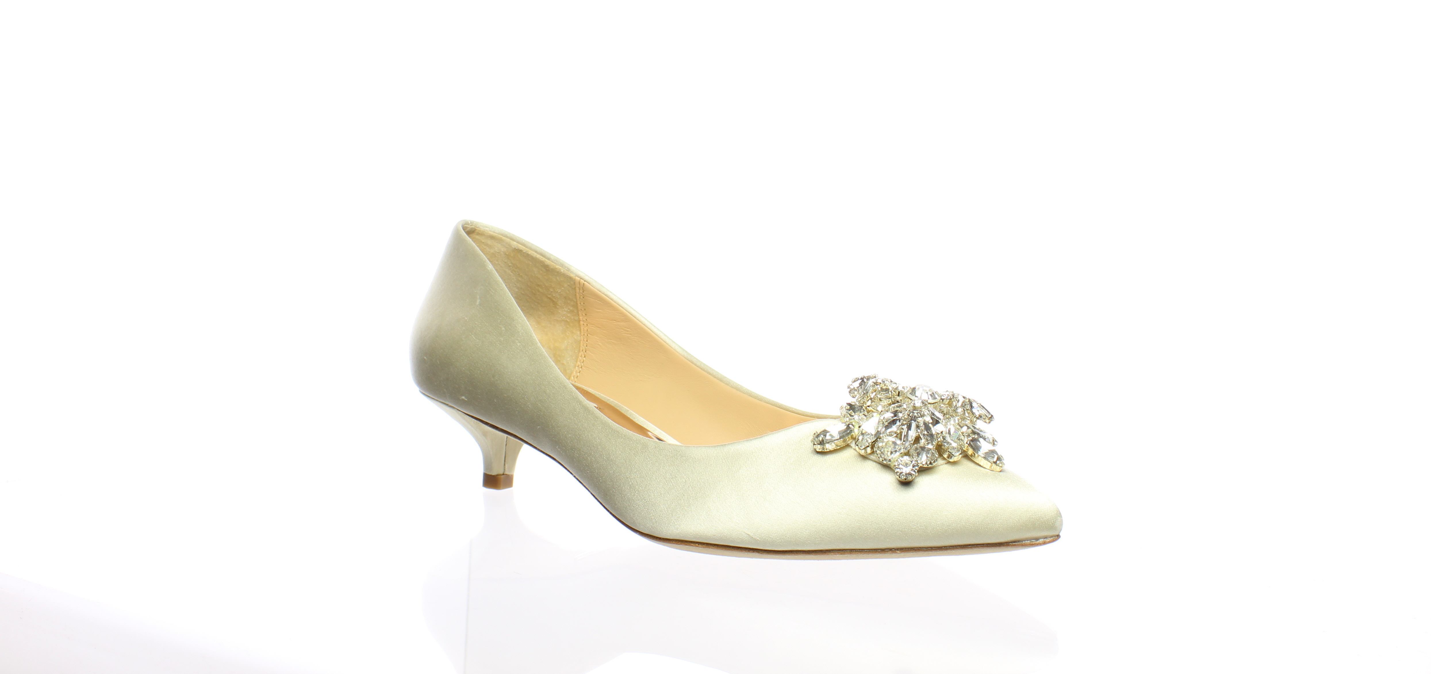 a191daf59f2 Details about Badgley Mischka Womens Vail Ivory Satin Pumps Size 6 (438909)