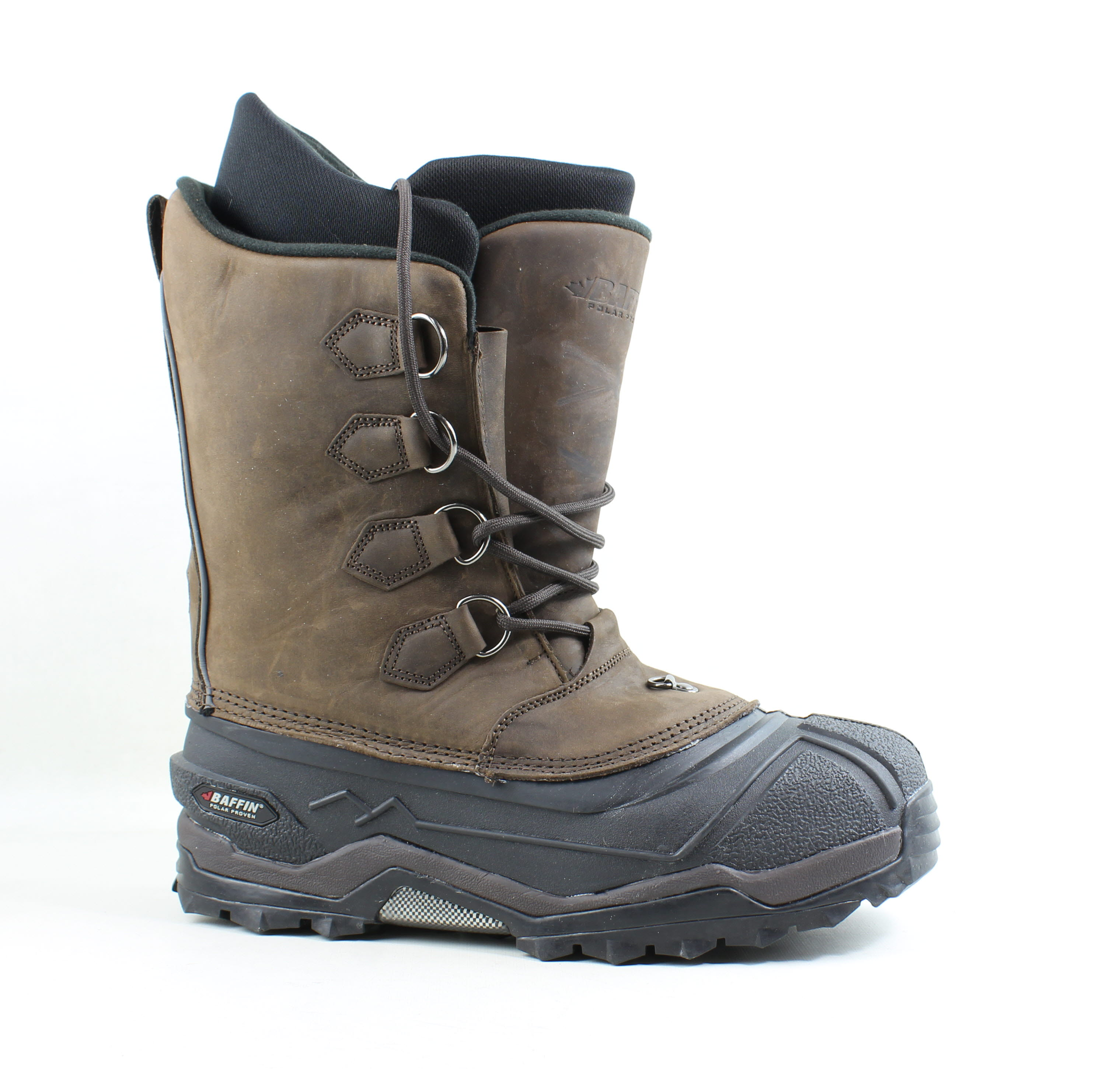 b671e8dfd88 Details about Baffin Mens Control Max Worn Brown Snow Boots Size 11 (462322)