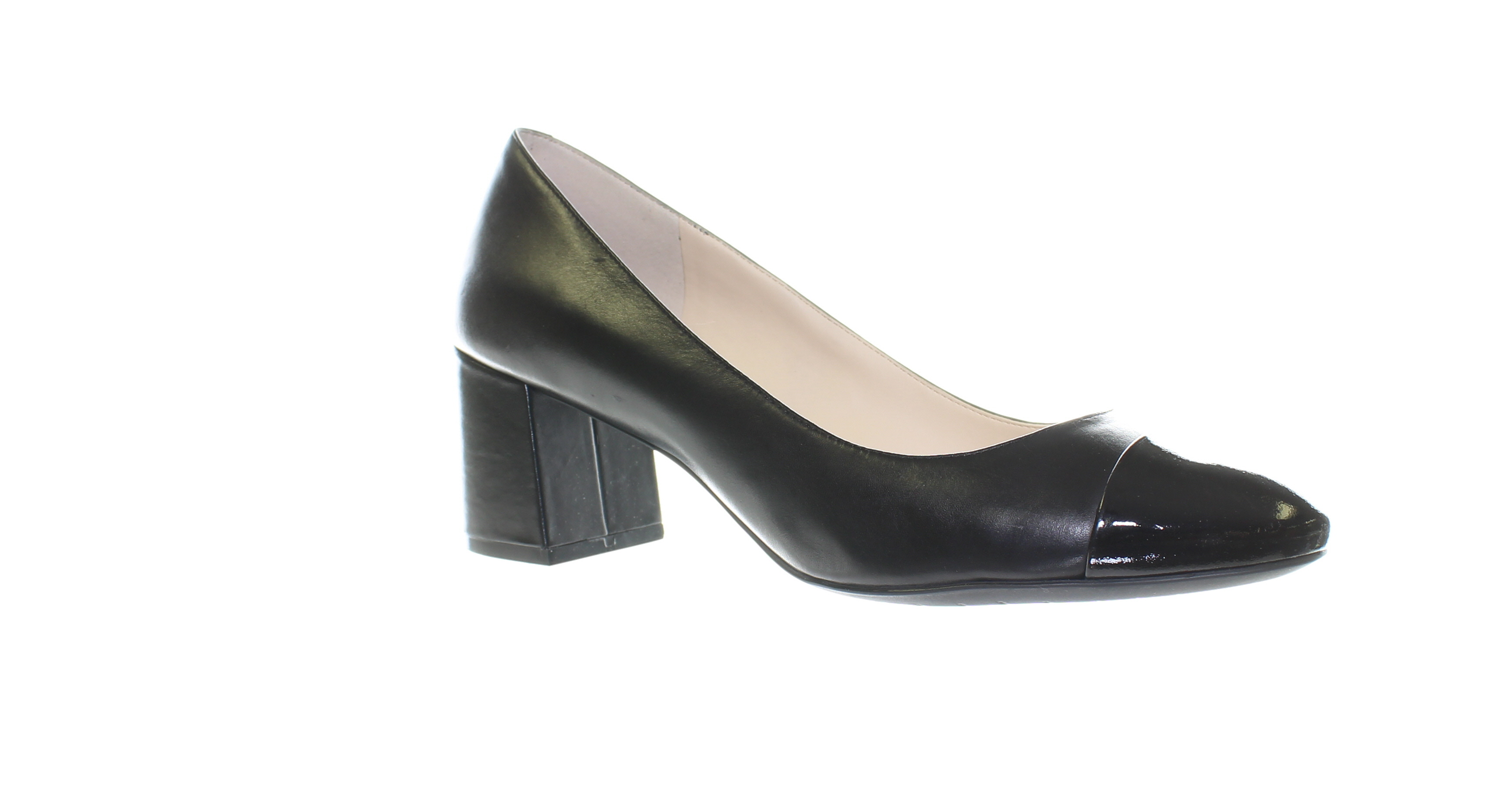 62266030a74 Details about Cole Haan Womens Dawna Black Leather/Patent Pumps Size 9  (462709)