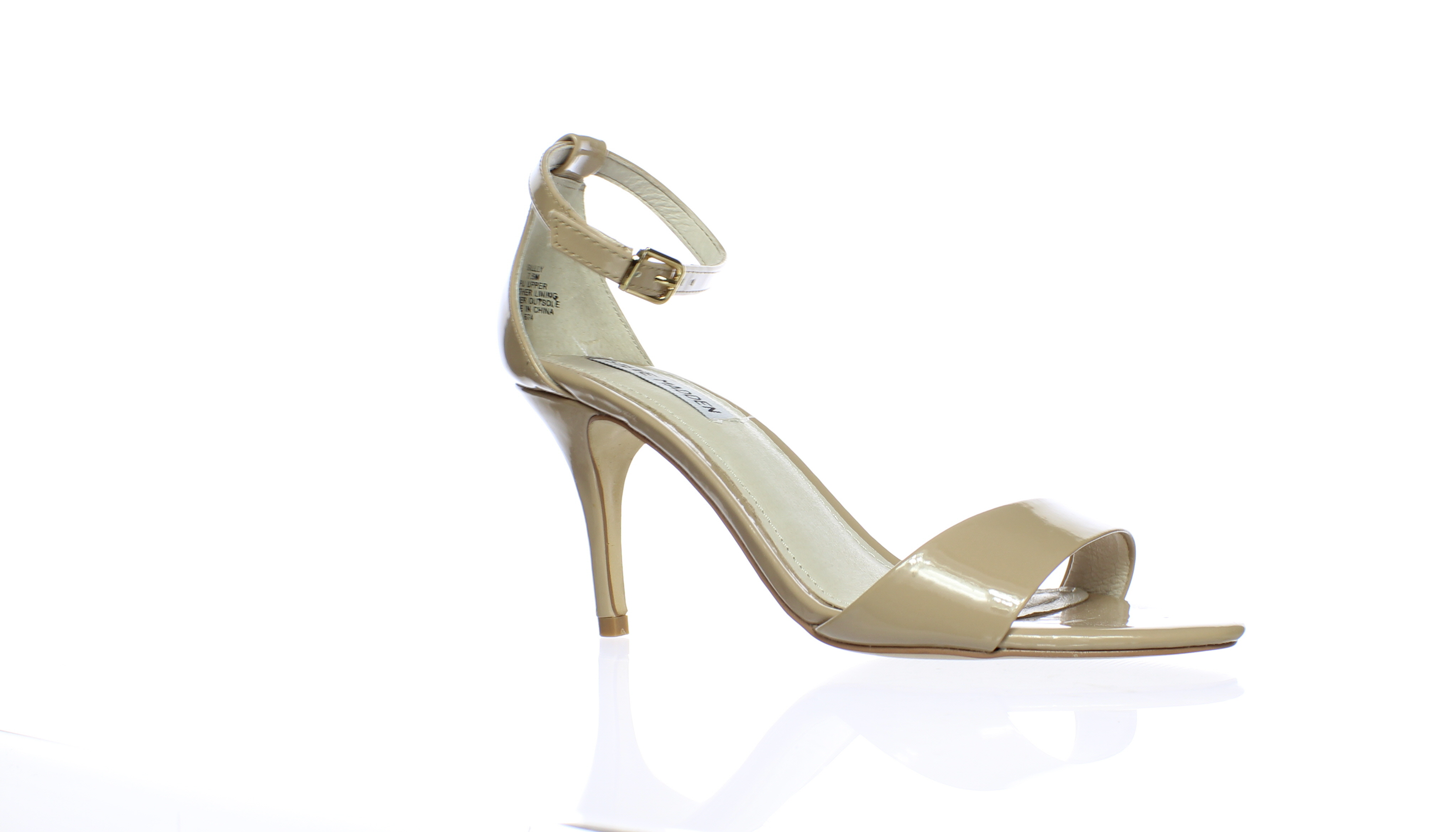 2f64a1d6dad Steve Madden Womens Sillly Blush Patent Ankle Strap Heels Size 7.5 ...