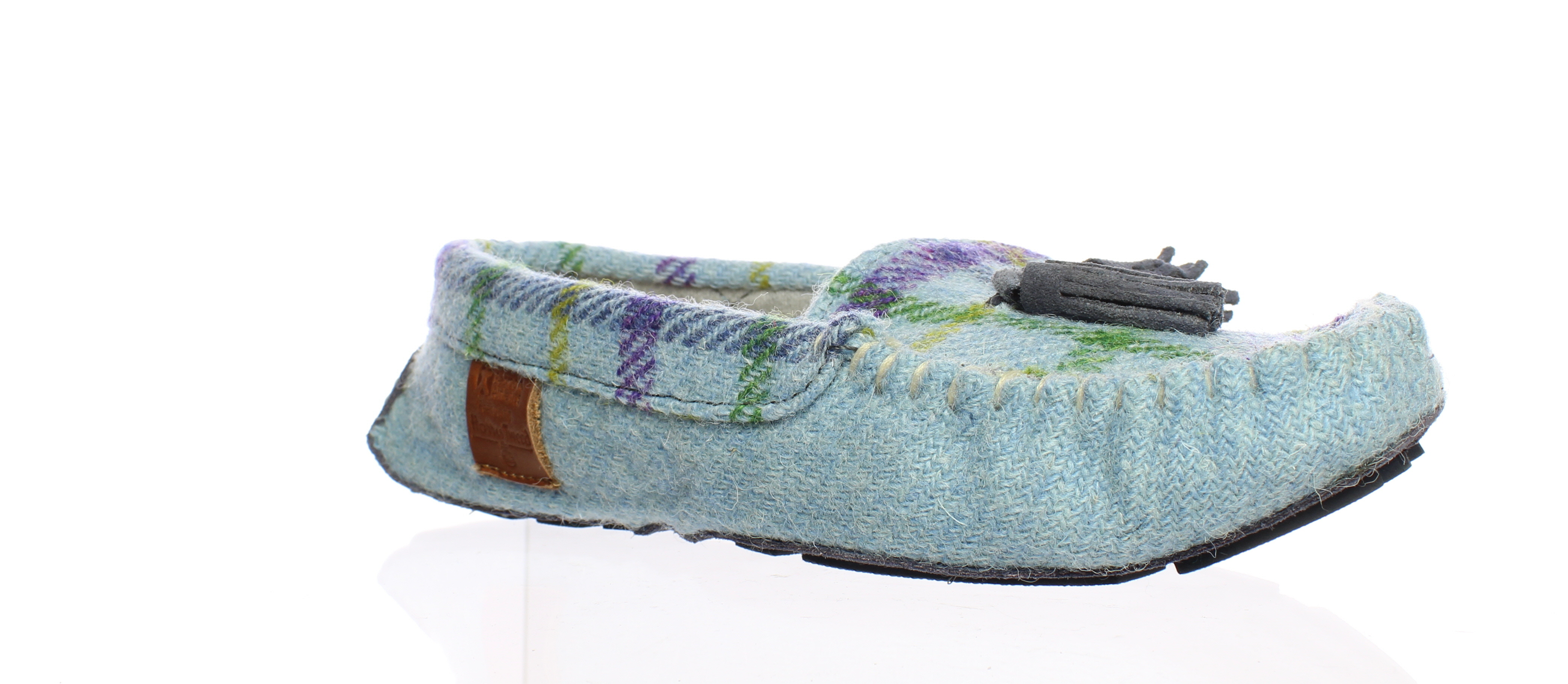 8d80c761879 Details about Bedroom Athletics Womens Zara Blue Moccasin Slippers Size 5