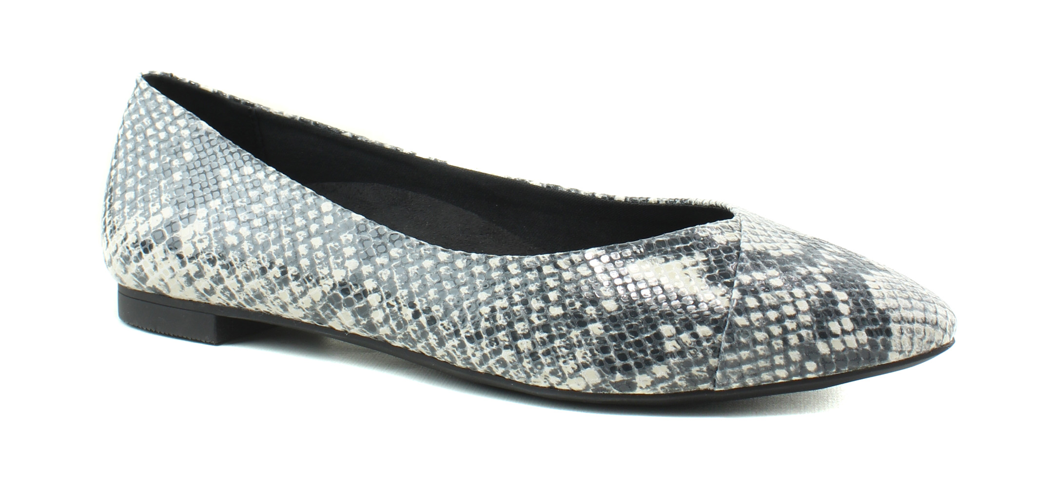 New Vionic Donna Caballo Natural Snake Ballet Flats Size 10