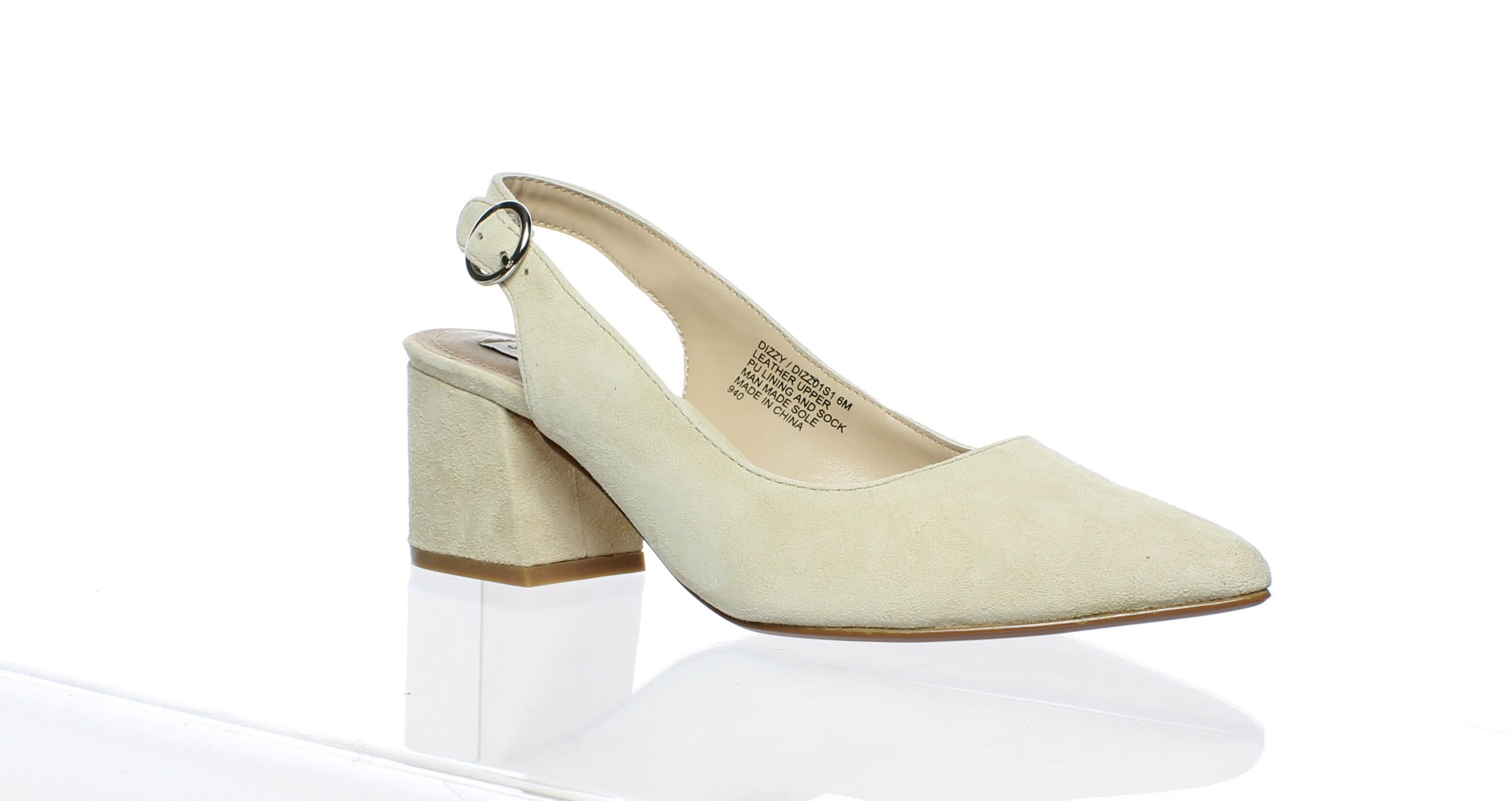 aa0c685fa6d Details about Steve Madden Womens Dizzy Nude Suede Slingbacks Size 6 (62430)