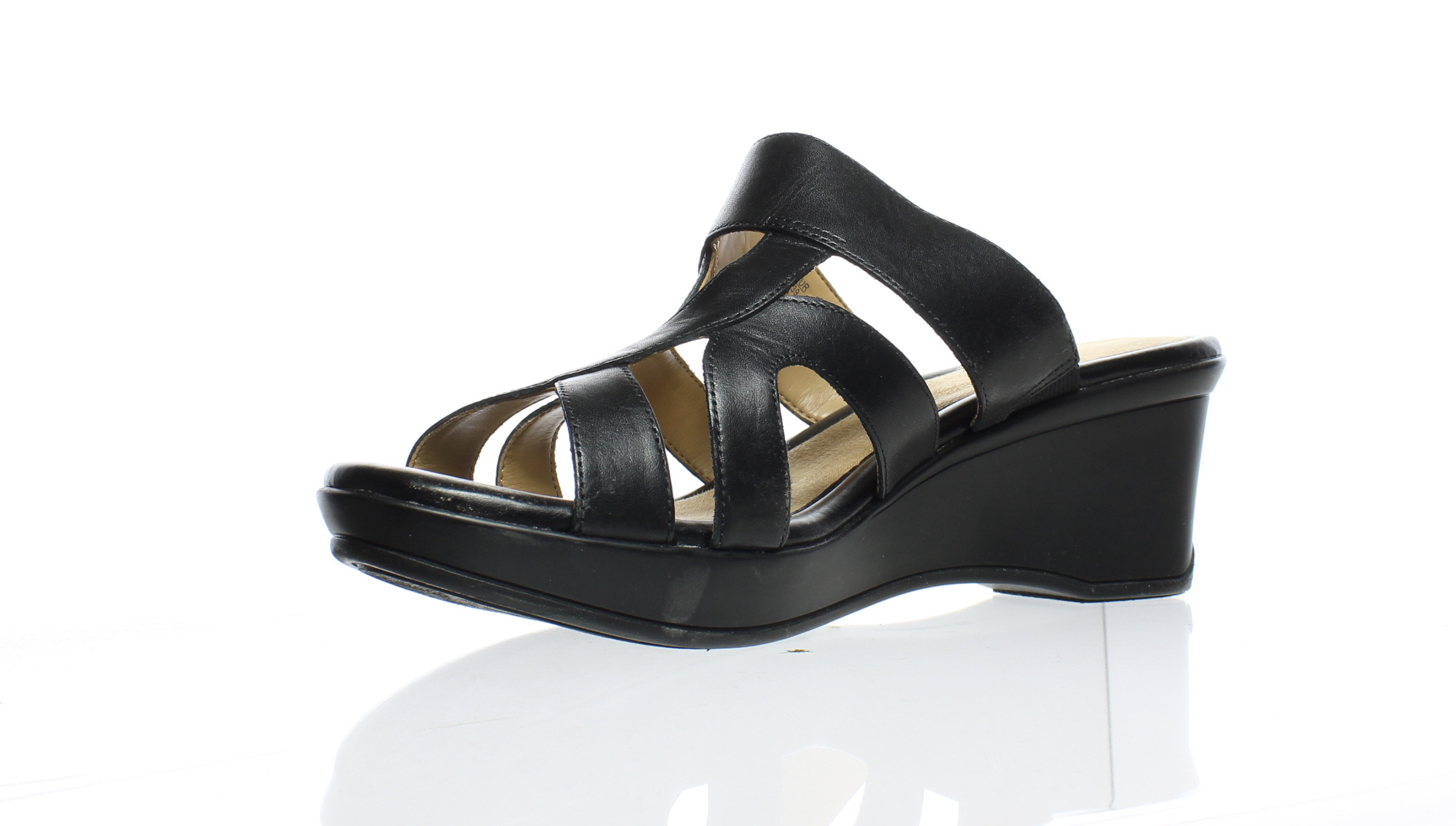 1212aa0c6bff Naturalizer Womens Vanity Black Leather Sandals Size 9 (C