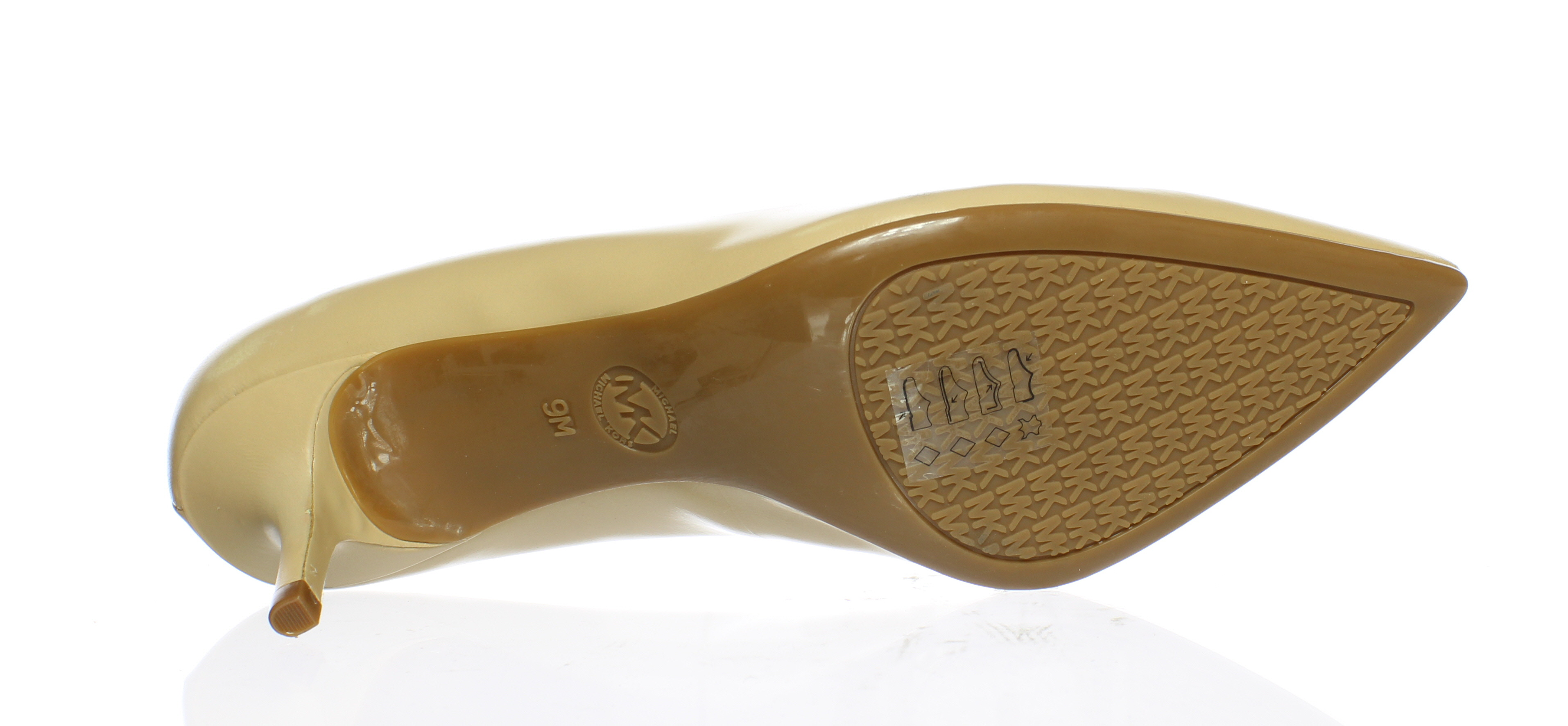 36ab4aa672c Michael Kors Womens 40S6mfmp1l-112 Nude Smooth Kid Pumps Size 9 ...