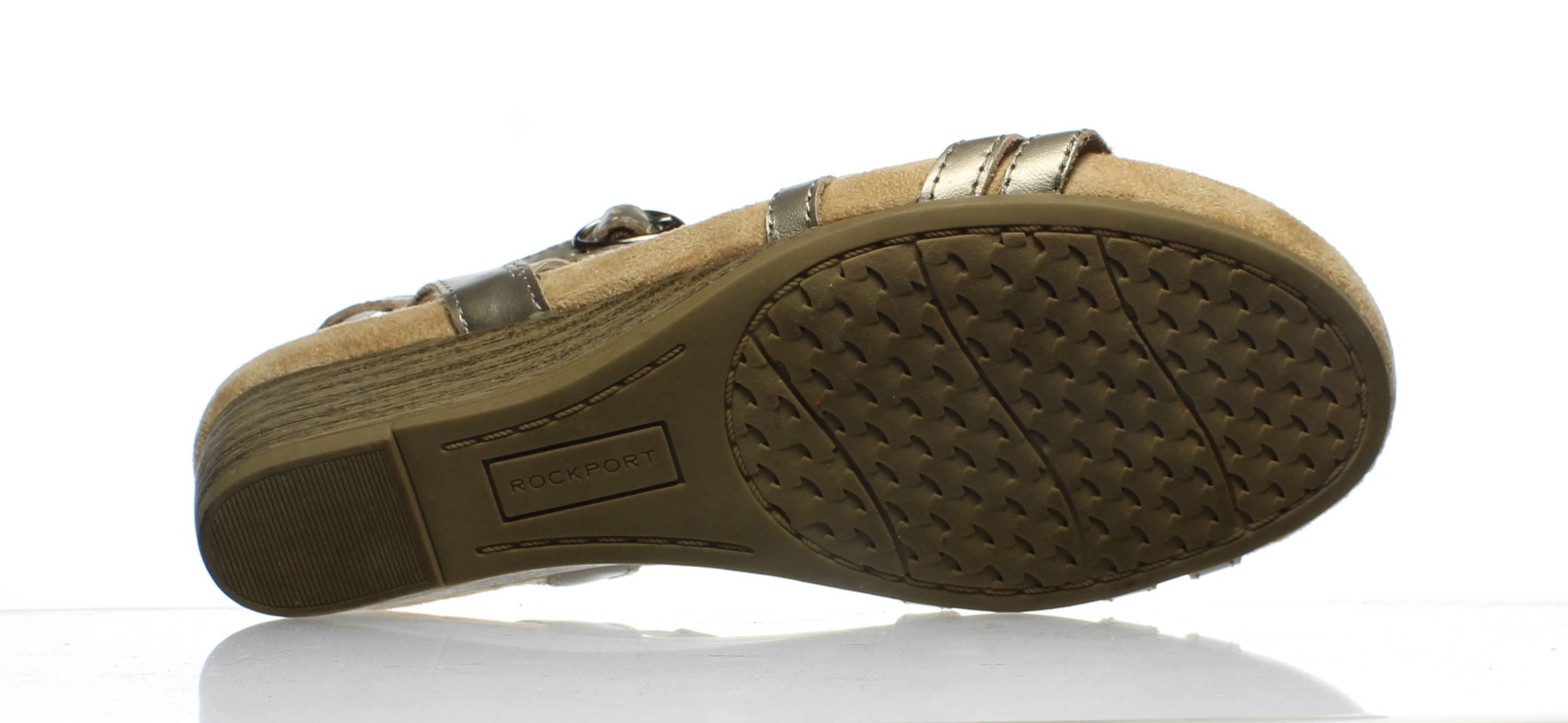 Responsible Cobb Hill Fiona By Rockport Sandals Taupe 7.5 Wide Making Things Convenient For Customers
