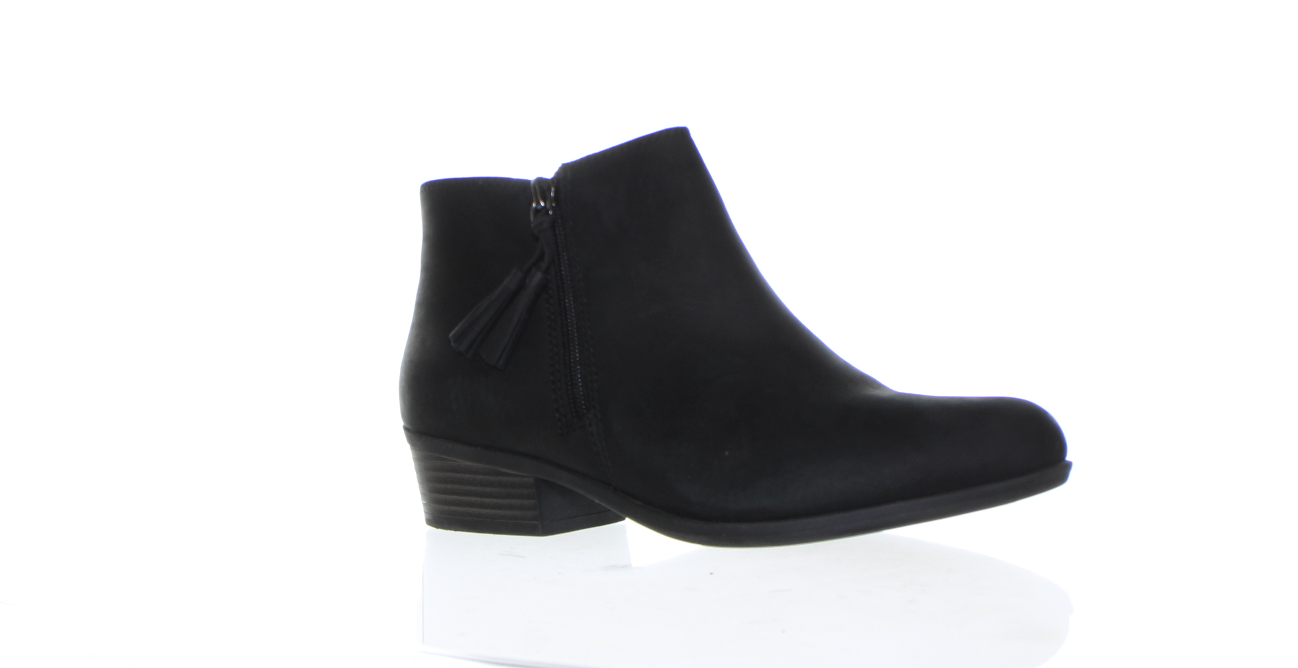 Details about Clarks Womens Addiy Terri Black Leather Booties Size 7.5 (721198)