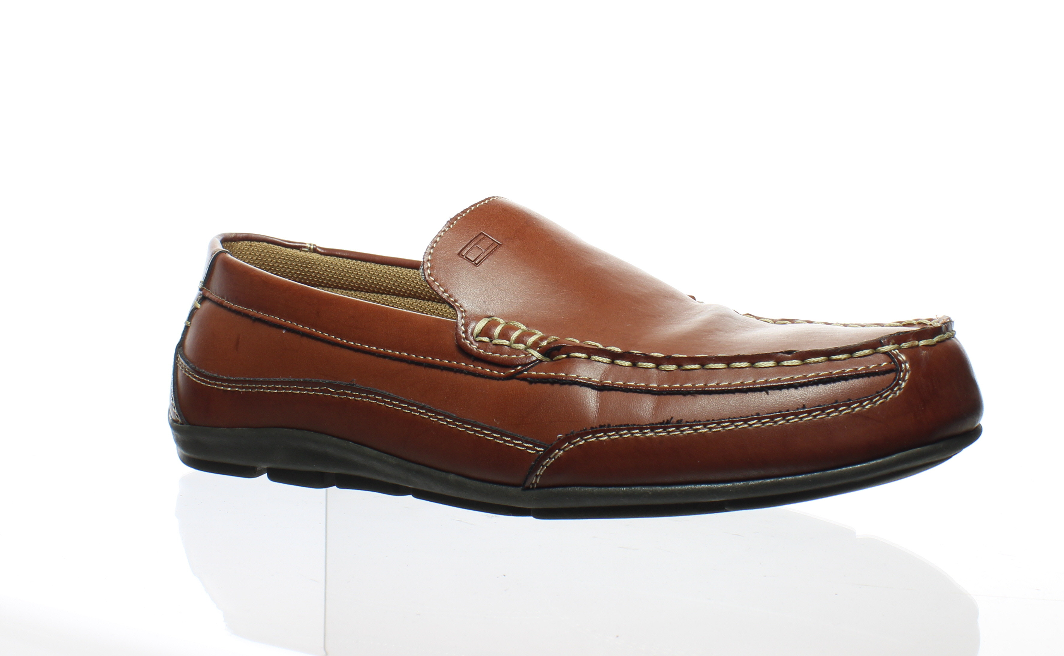 4a106bf42 Tommy Hilfiger Mens Dathan Brown Loafers Size 10.5 (83660 ...