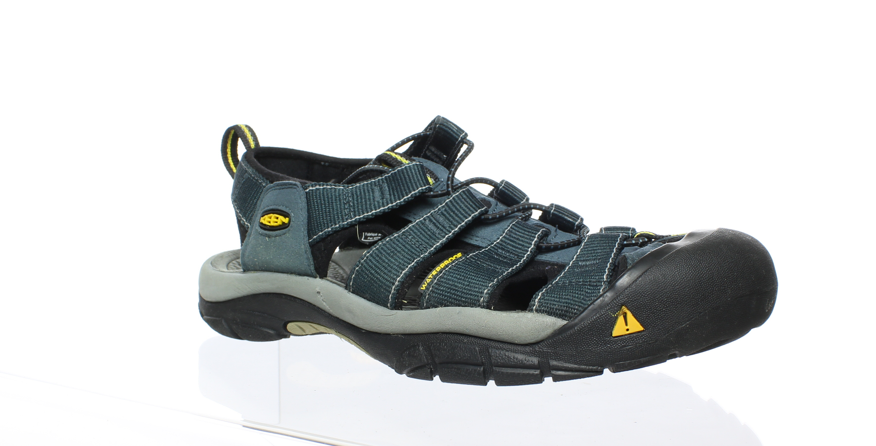 e4e4779ba112 KEEN Mens Newport H2 Navy Medium Grey Sport Sandals Size 9.5 (85676 ...
