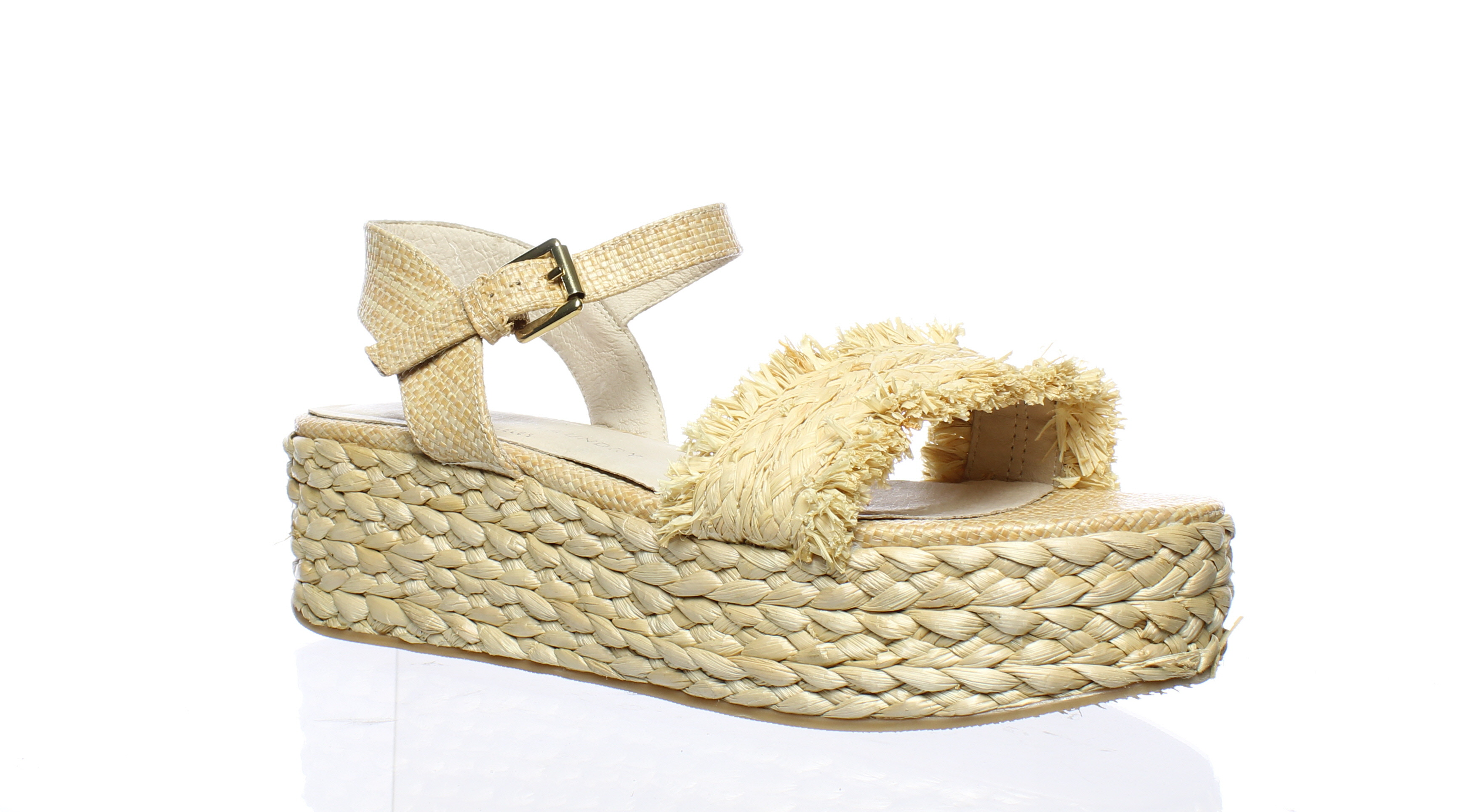 17647124df4 Chinese Laundry Womens Ziba Straw Natural Straw Espadrilles Size 8.5 ...