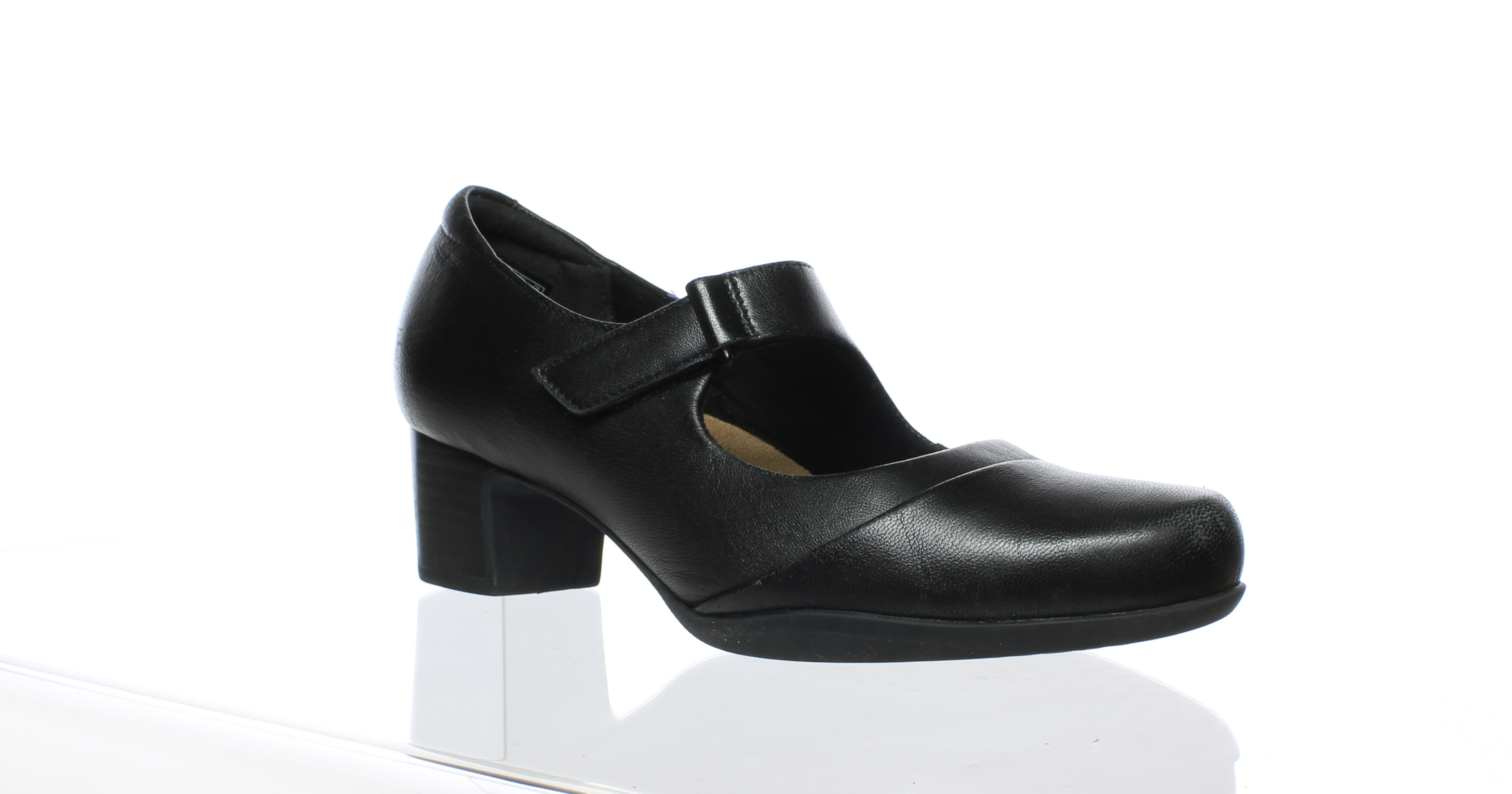 e30c9d77f014 Clarks Womens Black Leather Mary Jane Heels Size 7.5 (89422 ...