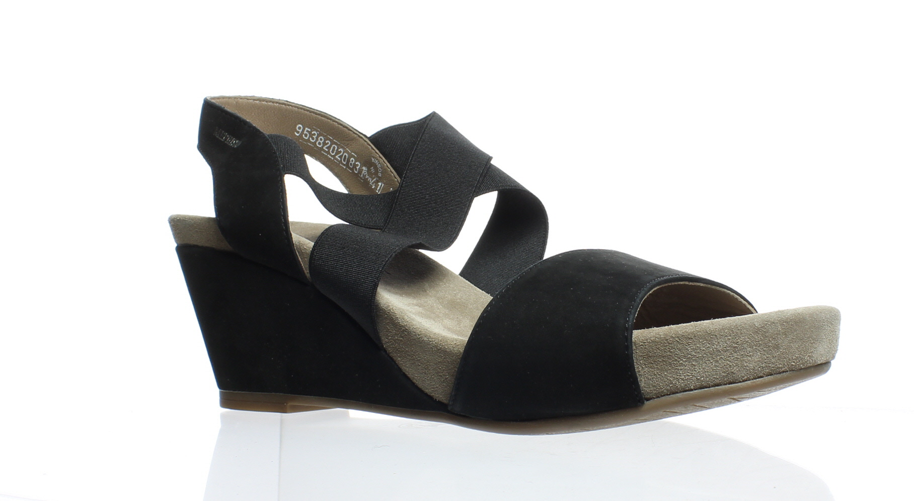 21d2f6ffdc New Mephisto Womens Barbara Black Bucksoft Sandals Size 11 | eBay