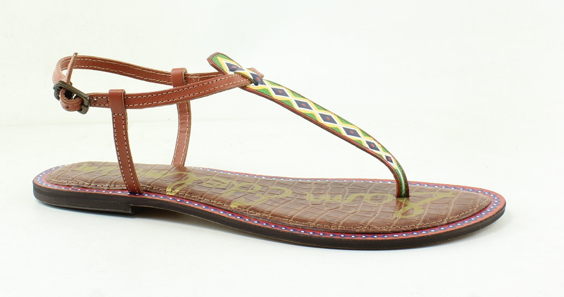 d0457156617b New Sam Edelman Womens Gigi Brown T-Strap Sandals Size 9.5