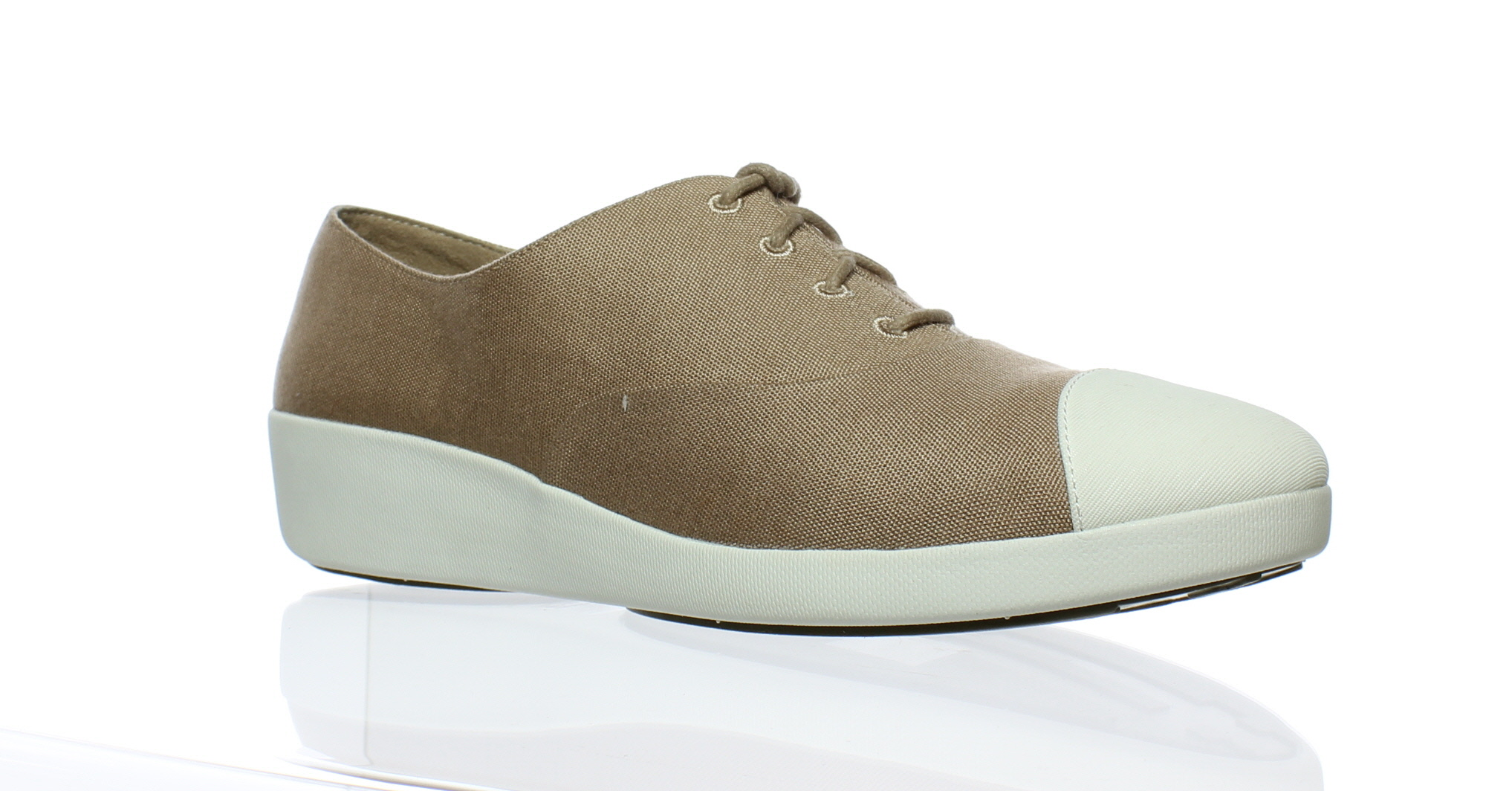 71927cde6a2 FitFlop Womens F- Pop Oxford Canvas Timber Wolf Oxfords Size 9 (9954 ...