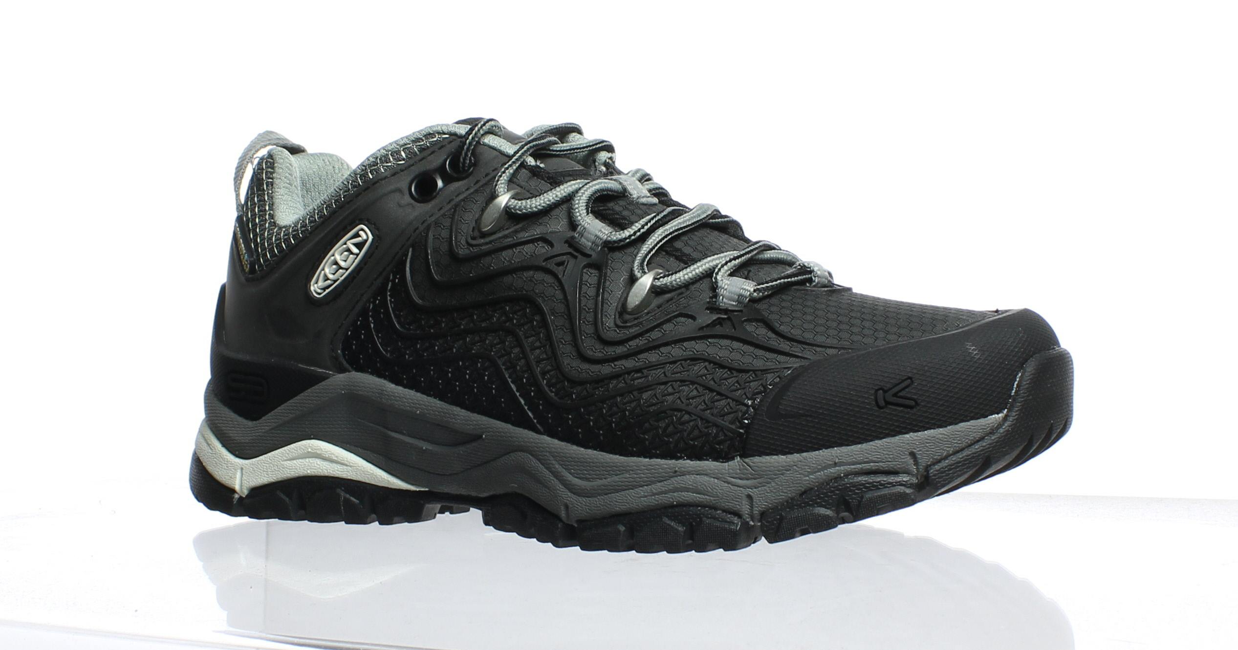 6cf020fdaf90 New KEEN Womens Aphlex Wp Black Gargoyle Hiking Shoes Size 5 ...
